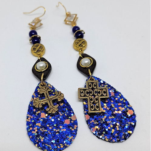 Charliez Blue Dazzling Earrings