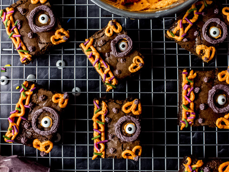 Hocus Pocus Spellbook Brownies - Grain Free, Low FODMAP Friendly feat. Color Kitchen