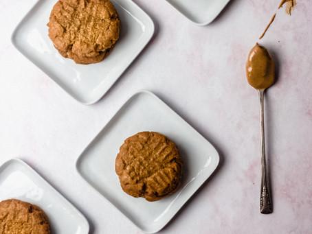 3 Ingredient Flourless Peanut Butter Cookies - A low FODMAP, Keto Friendly Dessert