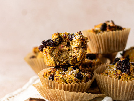 Best Paleo Carrot Cake Muffins - Collagen Protein Muffins | Pretty Delicious Life