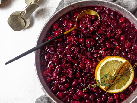 Low FODMAP Friendly Cranberry Sauce - A Low FODMAP Thanksgiving Side Dish