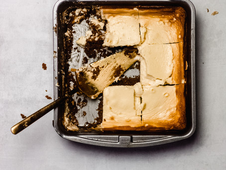 Gluten Free Refined Sugar Free and Lactose Free Cheesecake Bars - A Low FODMAP Dessert