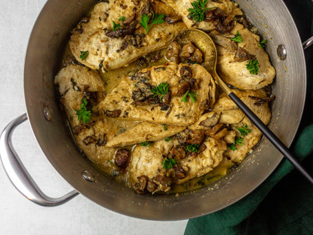 Easy, Paleo Low FODMAP Friendly Chicken Marsala