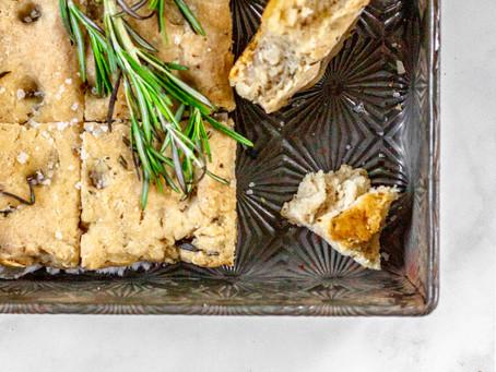Gluten Free, Low FODMAP Rosemary Garlic Focaccia
