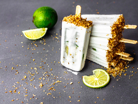 Dairy Free Toasted Coconut Lime Popsicles