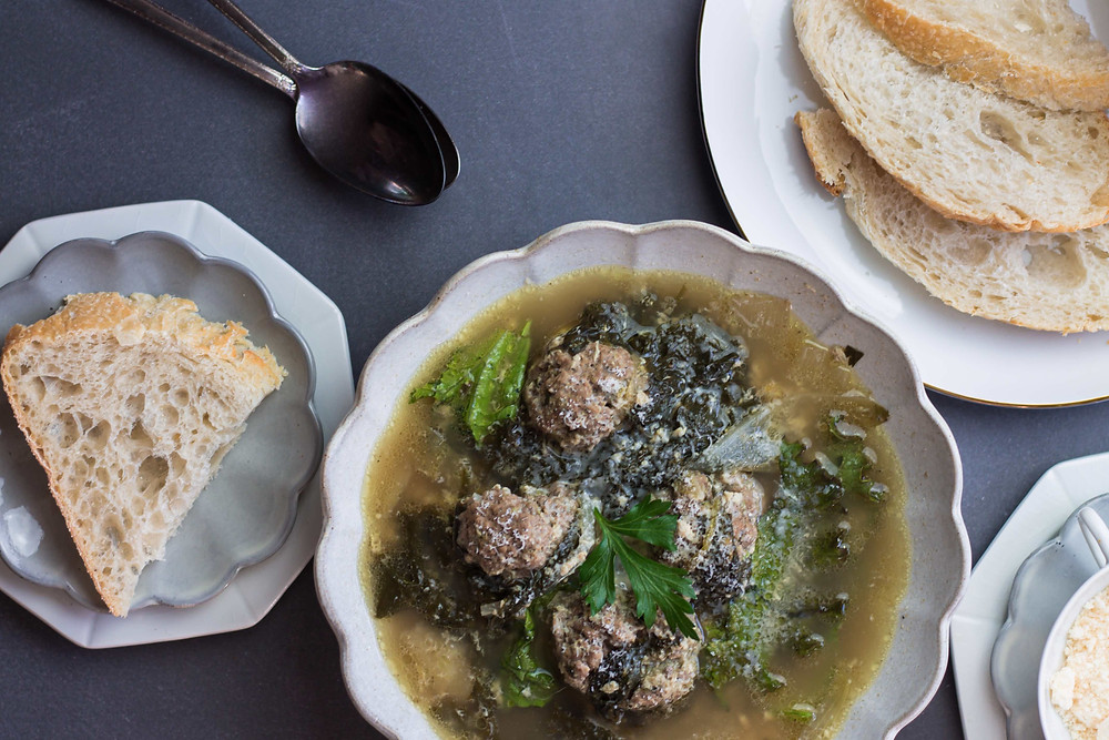 Low FODMAP Italian Wedding Soup - Featuring Gourmend Foods   Pretty Delicious Life - One of my all time favorite Christmas Day foods to enjoy is a piping hot bowl of Italian Wedding Soup. In my family, Christmas celebrations include LOTS of food (no surprise there) but our meals are spaced