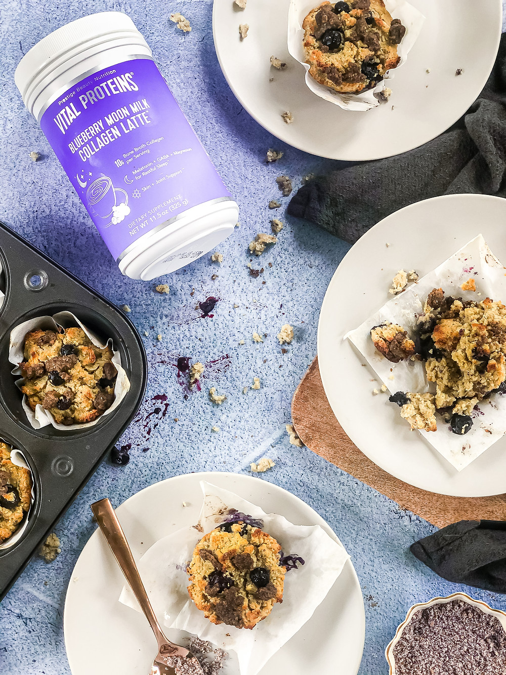 Pretty Delicious Life Paleo low fodmap blueberry muffins -