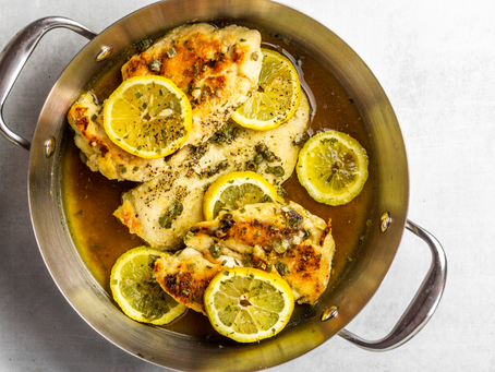 Easy One Pan Gluten Free Low FODMAP Chicken Piccata