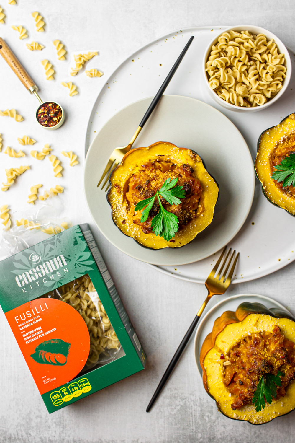 Lactose Free Gluten Free Acorn Squash Mac + Cheese Featuring Cassava Kitchen - Pretty Delicious Life - When I was given the opportunity to develop a few recipes for Cassava Kitchen I was not only so excited to finally try their gluten free products but I was also beyond thrilled to be working with a fellow