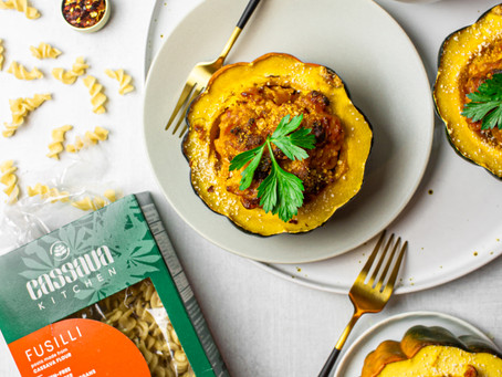 Lactose Free Gluten Free Acorn Squash Mac + Cheese Featuring Cassava Kitchen