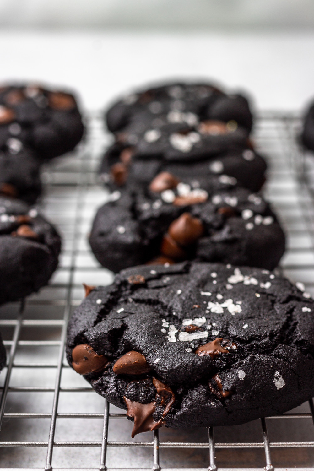 Paleo Double Chocolate Sea Salt Olive Oil Cookies - A Paleo Dessert - Pretty Delicious Life - First of all, can we all pause for a collective moment to drool over this decadent paleo dessert? Alright, now that that's over with I hope you worked up an appetite because you're likely going to want to eat