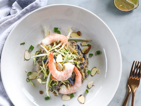 Low FODMAP Shrimp + Veggie Pad Thai