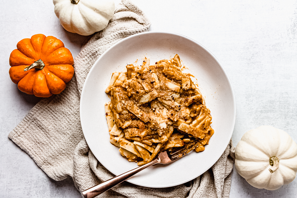 Pretty Delicious Life Low FODMAP Paleo Pasta with Pumpkin Sage Sauce -When you hear homemade pasta, what do you think? Do you automatically scroll on to the next recipe thinking it is something you simply cannot even attempt? That it will take so much time that you just do not have? What about when you hear low FODMAP