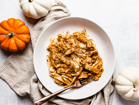 Low FODMAP Paleo Pasta with Pumpkin Sage Sauce