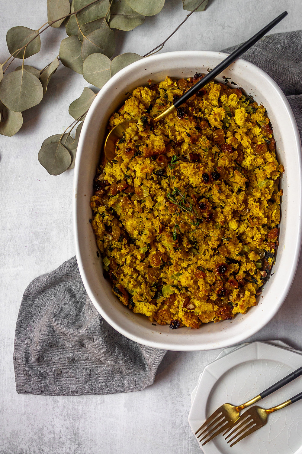Gluten Free Low FODMAP Friendly Cornbread Stuffing - A Low FODMAP Thanksgiving Side Dish - Pretty Delicious Life - I might be one of the few, but I am so excited for Thanksgiving this year. Although it will look very different from Thanksgivings past, I've been really enjoying whipping up some of my favorite low FODMAP