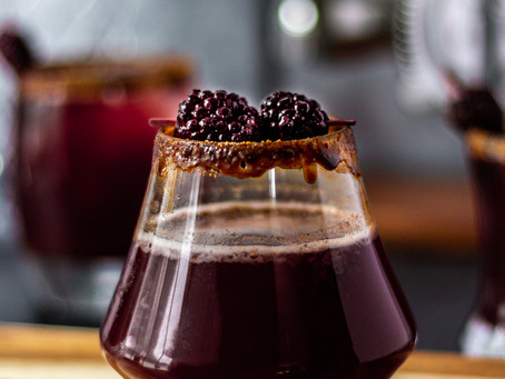Blackberry Chai Simple Syrup Recipe - for Recess CBD Seltzer Mocktails | Pretty Delicious Life