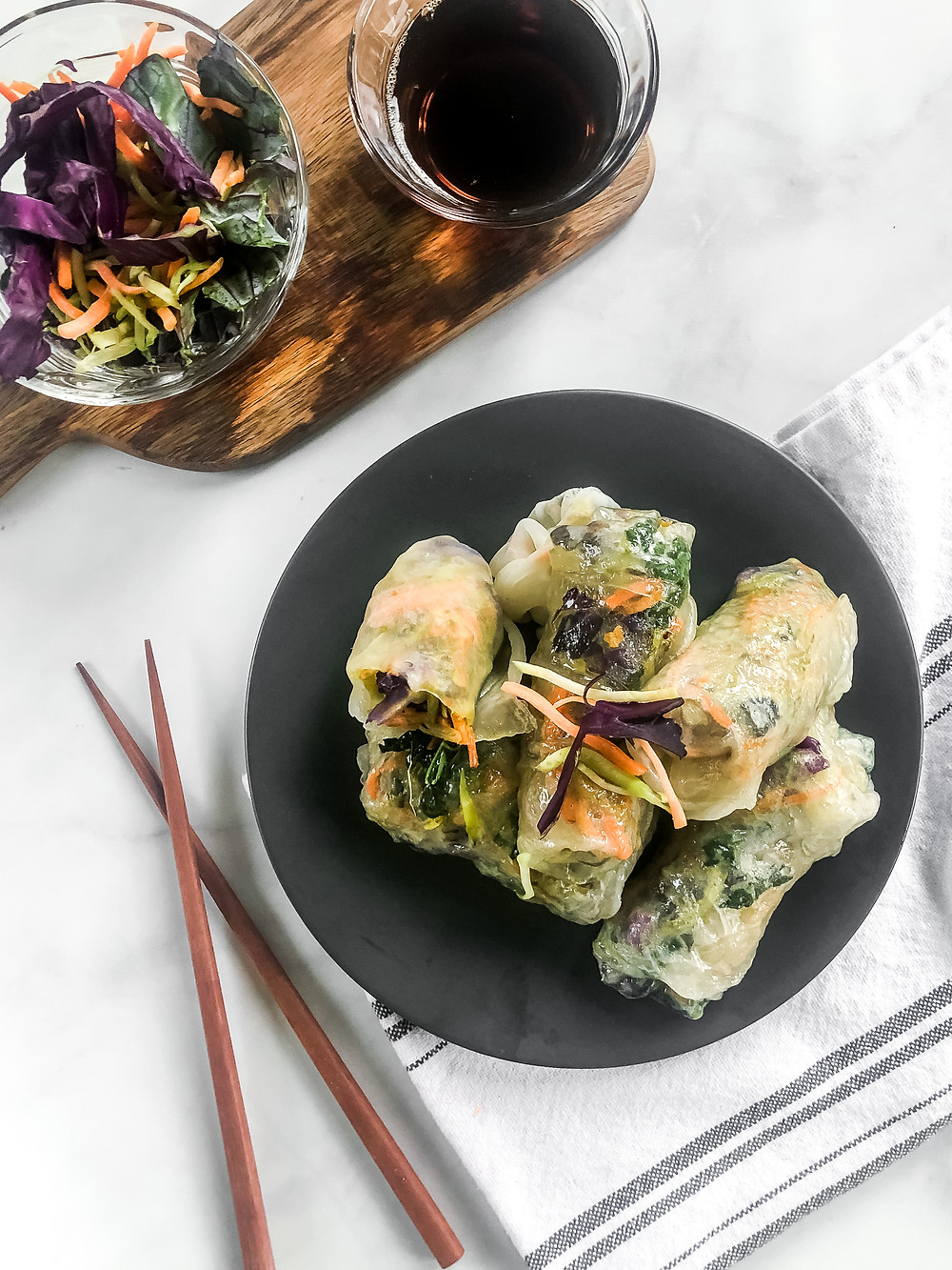 Pretty Delicious Life Paleo, Low FODMAP, Vegan Spring Rolls