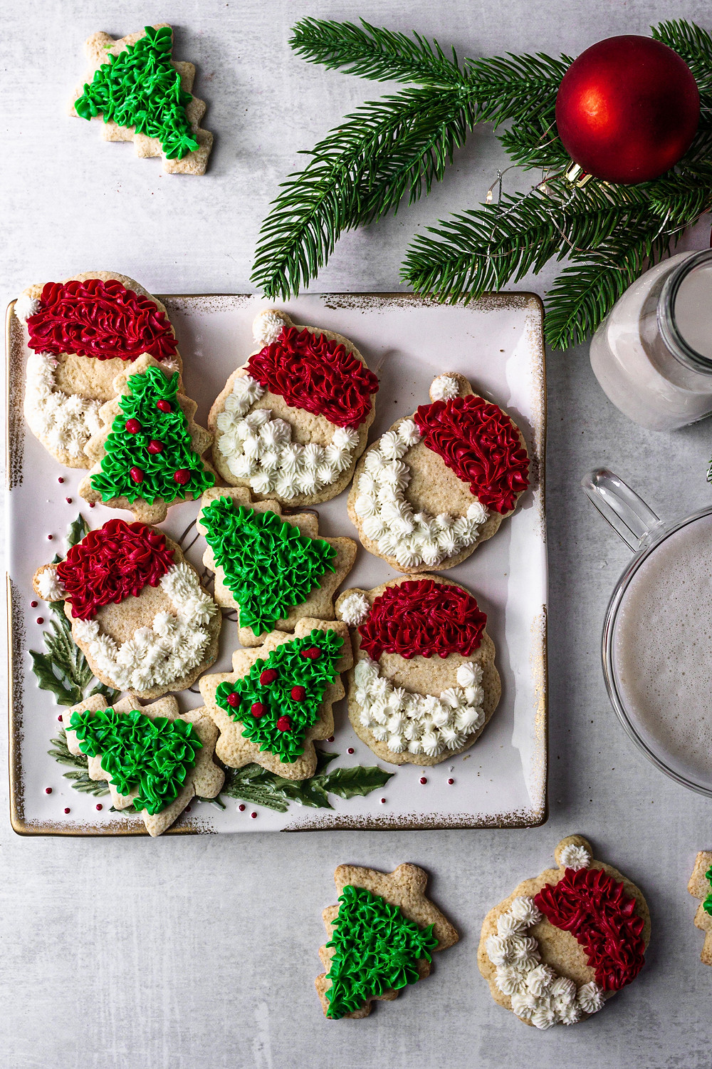 Paleo Christmas Cut Out Cookies - A low FODMAP Dessert | Pretty Delicious Life - To say I am excited to share this recipe with you is a serious understatement. This holiday season I have been playing around with a lot of family favorite dessert recipes, turning them into low FODMAP dessert recipes,