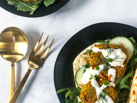 Low FODMAP, Grain Free, Vegan Falafel with/Tzatziki Sauce