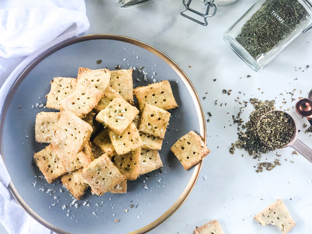 Gluten Free Sourdough Discard Crackers