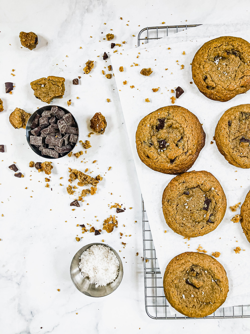 Pretty Delicious Life Low FODMAP Gluten Free Chocolate Chip Cookies with Vegan Option