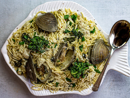 Low FODMAP Spaghettini with Clams + White Fish - Feat. Gourmend Foods | Pretty Delicious Life