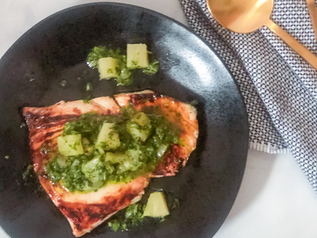 Seafood Fest: Grilled Swordfish with Low FODMAP Pineapple Chimichurri