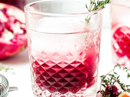 Festive Cranberry Pomegranate CBD Mocktail