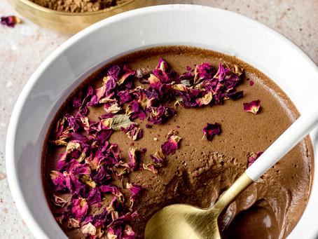 3 Ingredient Vegan Chocolate Mousse - A low FODMAP Dessert | Pretty Delicious Life