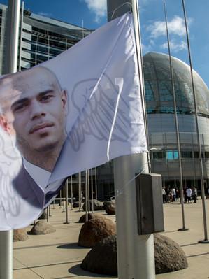 Jacob Flag at San Jose City Hall