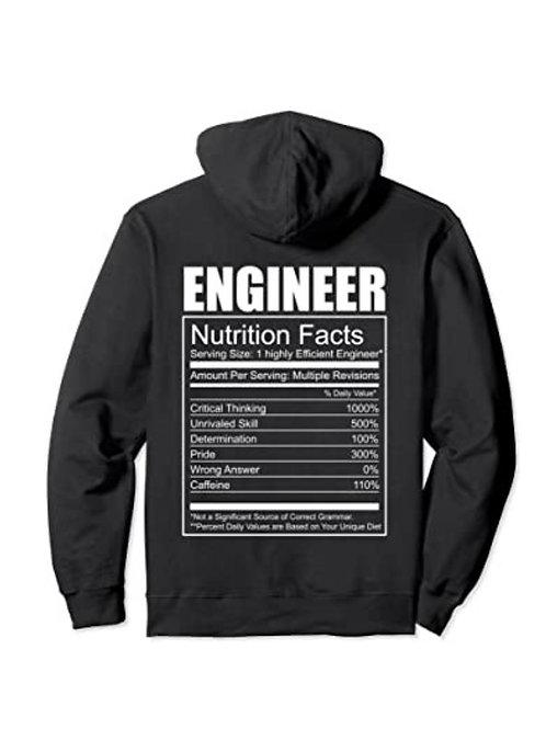 Hoodie tabla nutricional