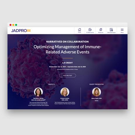 JADPRO CE Landing Page