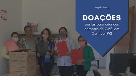 Blanco entrega doações para crianças em CMEI de Curitiba (PR)