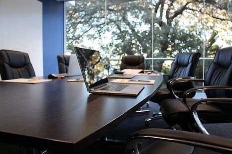 clean board room in office building