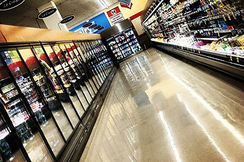 polished floor in grocery store