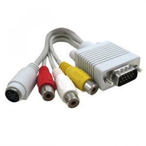 CONVERSOR SCART 3 RCA -SVHS IN-OUT