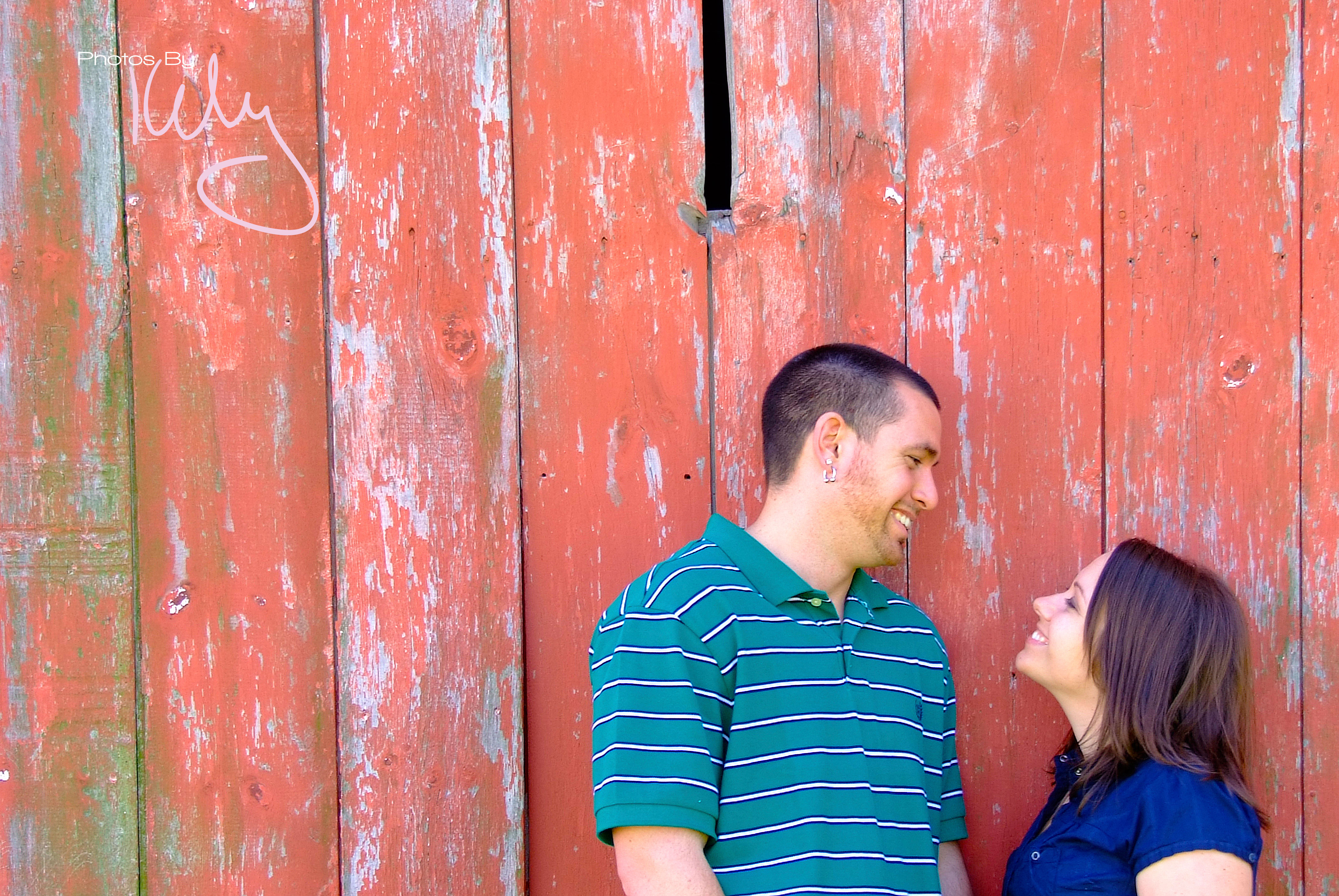 Couple Red Barn