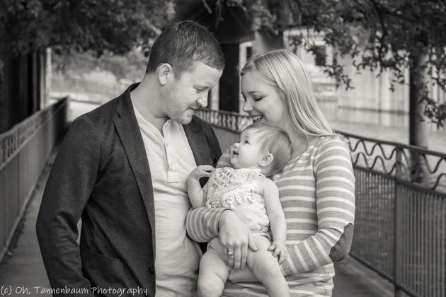 downtown family photo