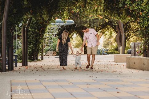 Family portrait session in downtown San Antonio at Hemisfair Park by Oh Tannebaum Photography