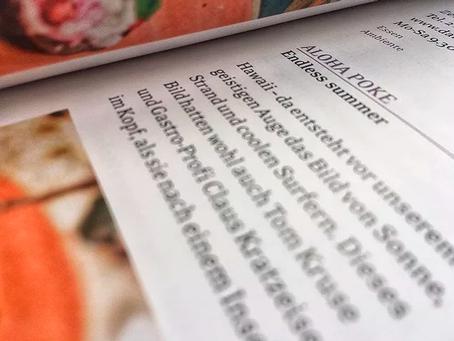 "Aloha POKE im Münchner Restaurantführer ""DelikatEssen""!"