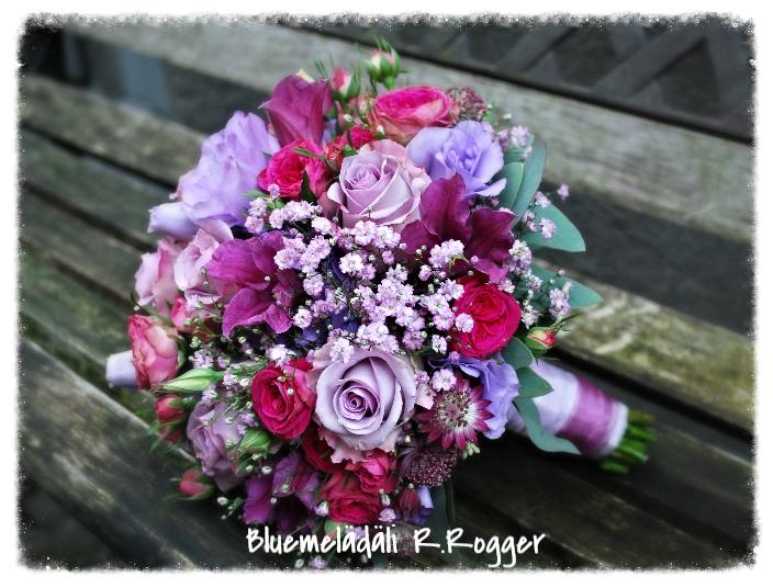 Brautstrauss in rosa-lila-pink