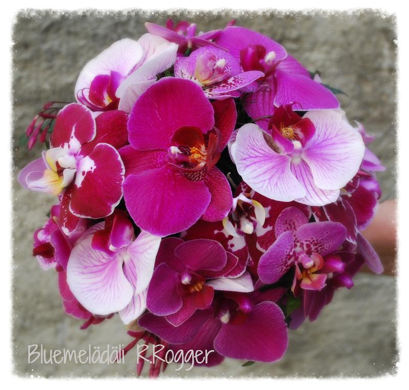Orchideen-Brautstrauss
