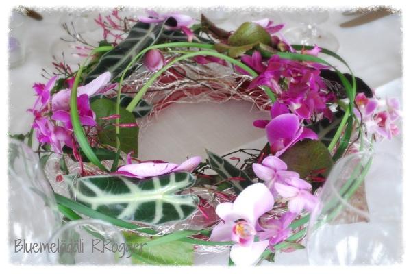 Tischschmuck mit Orchideen