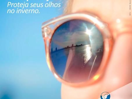 Sol e poluição. Proteja seus olhos no inverno.