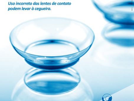 Uso incorreto das lentes de contato podem levar à cegueira