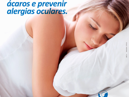 Como eliminar ácaros e prevenir alergias oculares.
