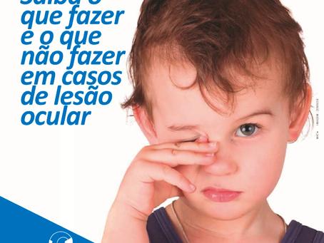Aprenda os primeiros socorros em caso d lesão ocular