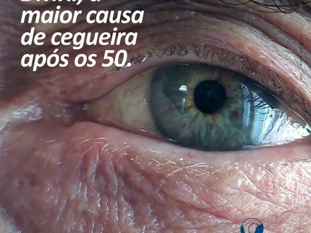 DMRI, a maior causa de cegueira após os 50 anos. Obesidade é fator de risco