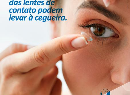 Uso incorreto das Lentes de Contato podem levar à cegueira.