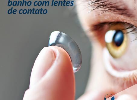 Que doenças posso contrair se tomar banho com lentes de contato?